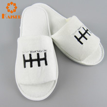 Promotional disposable open toe terry slippers