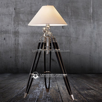 Royal marine tripod big floor lamp & Hot popular standing wooden ...
