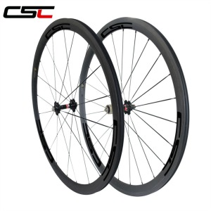 U Shape 25mm Width 38mm Clincher Carbon Road Bicycle Wheel Racing Bike Wheelset 3K UD Carbon