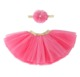 Wholesale baby girl glitter soft tutu pettiskirt with headband 3 layers tutu skirt