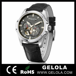 High quality skeleton watches men handmade swiss watches automatic chronograph watch