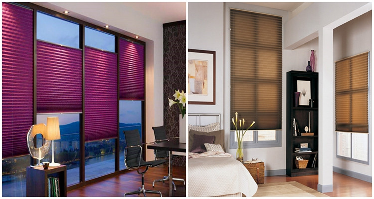 manual room darkening arch pleated fabric window cordless shades for living room or bedroom
