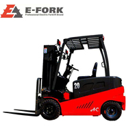 Warehouse use high standard electric pallet stacker training double deep reach truck for sale 2 ton electrical forklift