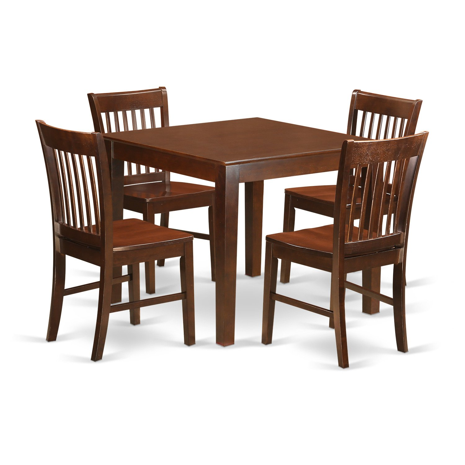 Get Quotations East West Furniture Oxno5 Mah W 5 Pc Kitchen Table Set With A