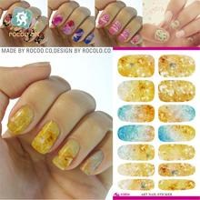 The new second generation water make up dream sky blue shift pattern Manicure nail sticker jewelry