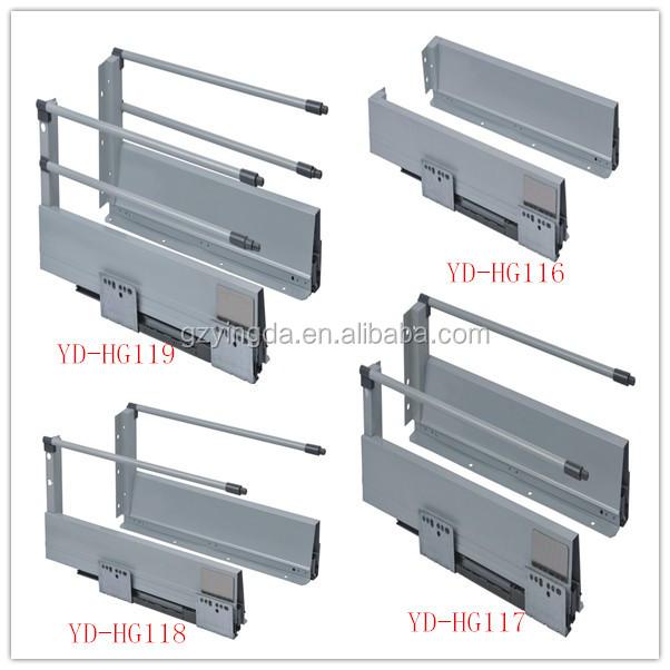 Kitchen Cabinet Drawer Slide Parts Metal Box Drawer Slides