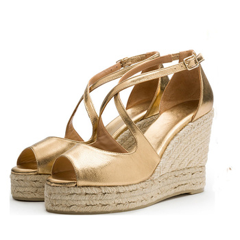 5c2996d46 2018 women heel platform espadrilles wedge sandals China shoes supplier