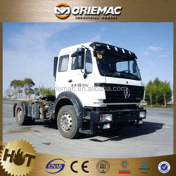Beiben 380hp tracto camion 10 wheels tractor truck , 2014 year seven meters long 290 horsepower diesel 6x4 luxury tractor