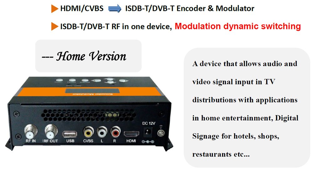 DEXIN NDS3522B hd/sd encoder modulator for Brazil