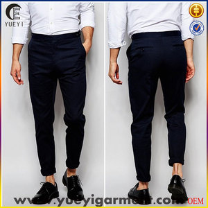 hot sale high quality man dress pants and trousers fashion slim fit trousers for men