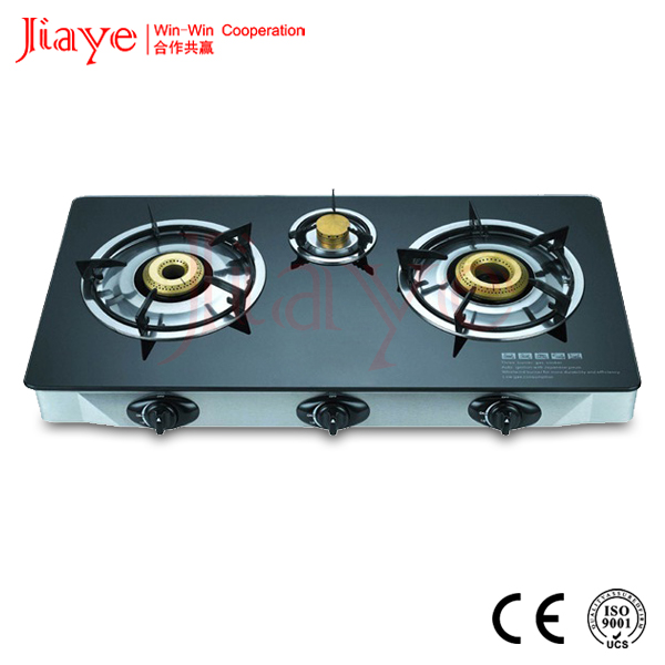 3 Burner table gas hob indian style countertop gas stove with enamel grill JY-TG3005