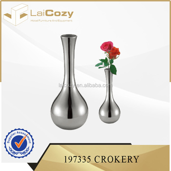 Hotel Tableware Antique Metal Vaserestaurant Table Flower Vase