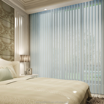 Motorized suns shades Vertical Shangri-La Sheer Blinds Triple Roller Shades