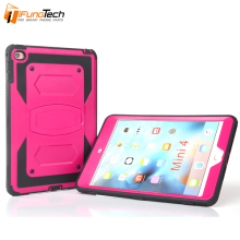 Factory Wholesale PC Silicone Robot Anti-Skid Keyboard Shockproof Rugged Tablet Back Cover Case for iPad Mini 4