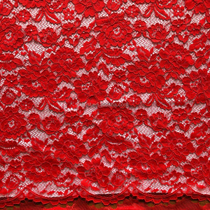 French high quality red chinese brocade cord lace fabric