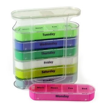 Drawer 28 case pill box 7 Day Pill Box Pill Reminder Medication Organizer