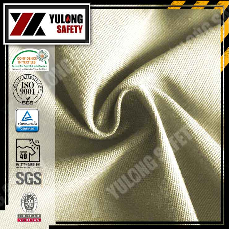 UL Listed NFPA2112 100% Cotton THPC Treated Woven Twill Flame Resistant Fabric NF701