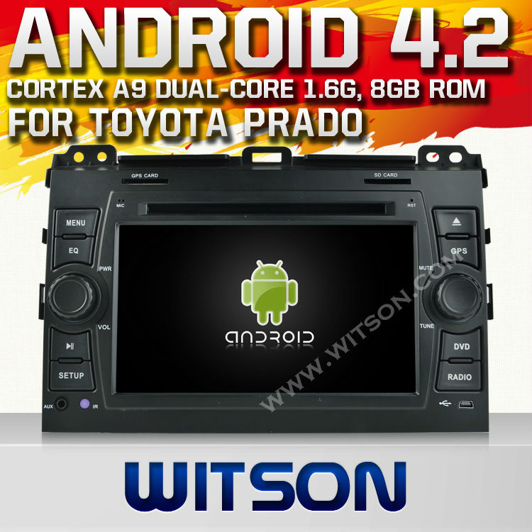 "WITSON Android 4.2 auto radio dvd for 7"" <strong>TOYOTA</strong> <strong>PRADO</strong> 120 WITH A9 CHIPSET 1080P 8G ROM WIFI 3G INTERNET DVR SUPPORT"