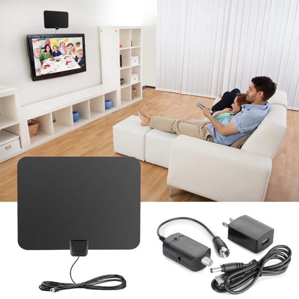 FidgetFidget TV Antenna Indoor HD Digital TV Antenna with 80 Mile Long Range Amplifier Useful