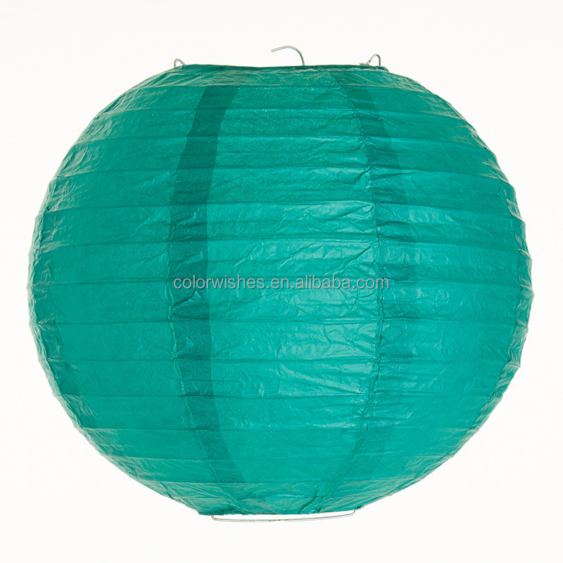 Teal Chinese/Japanese Folding Paper Lanterns Lamp Mariage Decorations