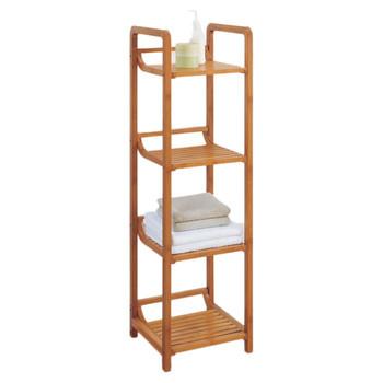 Bamboo Bathroom Shower Towel Standing Shelves - Buy Bathroom ...