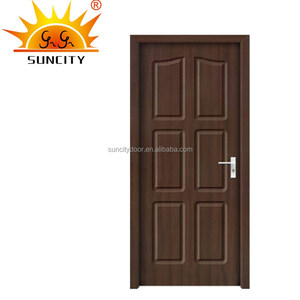 Elegant Interior glass inlay 3 panel door SC-P127
