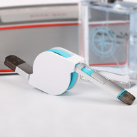 Micro USB 2.0 Charger Cable, Custom Top Quality Blue TPE Cable 2 In 1 Retractable USB Cable