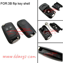 Wireless Flip Remote key 3 Button Car Wireless Key Cover for opel Zafira wireless key