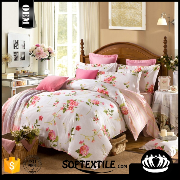 Polycotton embroidery duvet cover set