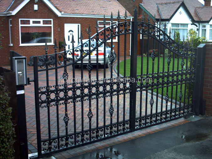 Fencing trellis gates type wrought iron main gate