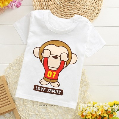 TX-MS-006 cheap custom printed 100% cotton baby toddler t shirts wholesale