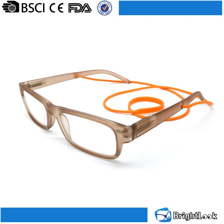 Reading glasses manufacturers china,hot sale easy reader spring hinge temple reading glasses with silicon chain