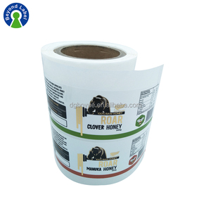 Adhesive Customized Printing Glass PET Honey Bottle Seal Label Sticker Roll