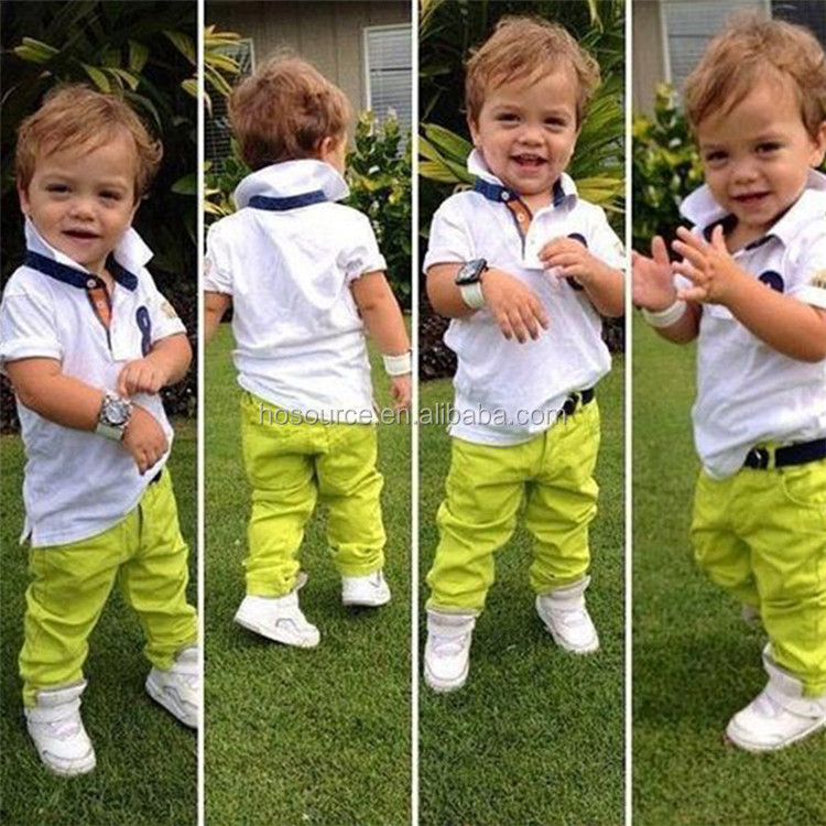 Short polo shirt pants good quality boy clothing fashion style children clothes