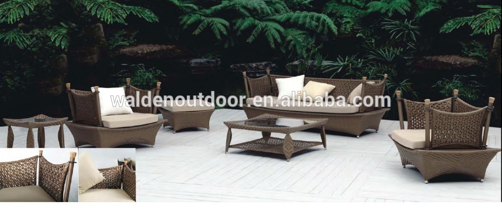 Barato exterior Ikea muebles de jardín de mimbre sofá de la rota ...