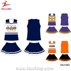 Cheerleader Pompom With Shirt Custom Sublimation School Girl Uniforms