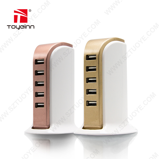 Hot 5 USB Port Multiport USB Charger Travel Wall Home Desktop 30W Charging Station