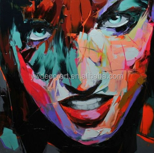 Hot Sale Impressionist Knife Picture Portrait Painting for Decor