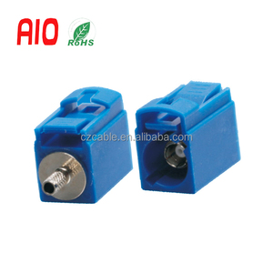 Short body Blue RF Fakra crimp Female Jack connector for Car GPS Antenna cable RG174 LMR100