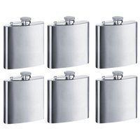 8oz Stainless Steel Engraved Pocket Hip Flask