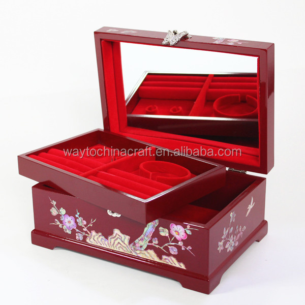 High end handmade decorative wooden jewelry boxes