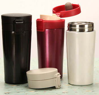 12oz Small Travel Coffee Thermos Mug With Lid Cup Vacuum Flask