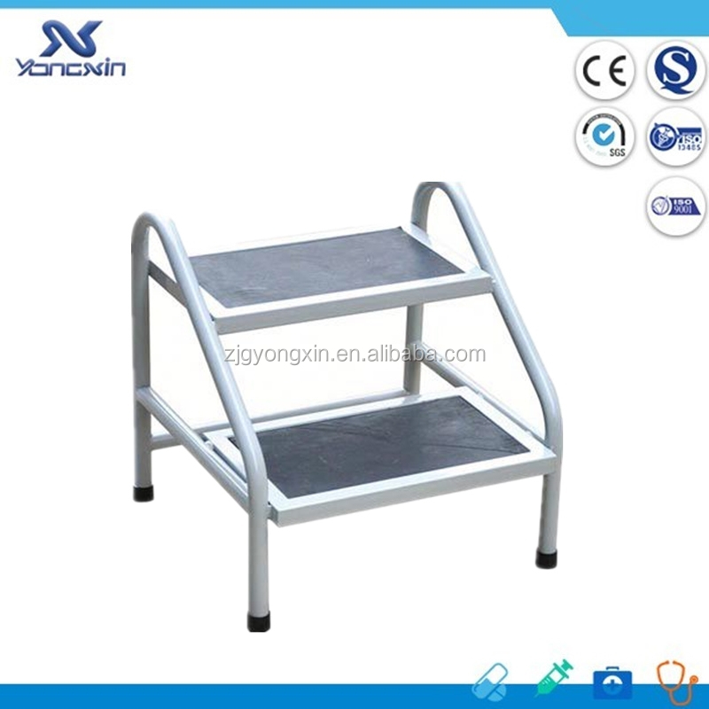 stainlee steel hospital double foot step stool