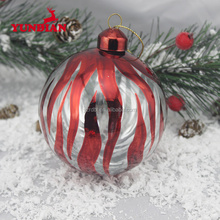 High class personalized red haning christmas ball large