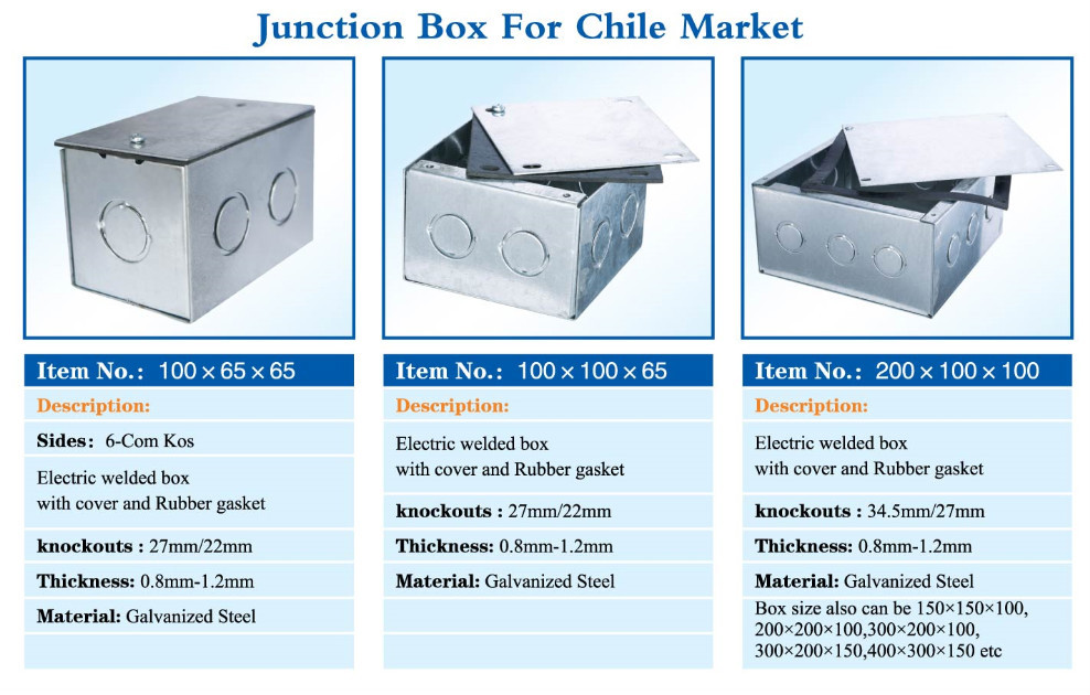 different sieze for Chile Markets knockout 27mm/22mm galvanized steel electrical pull box  sc 1 st  Jiaxing Brothers Hardware Plastic Co. Ltd. - Alibaba & different sieze for Chile Markets knockout 27mm/22mm galvanized ... Aboutintivar.Com