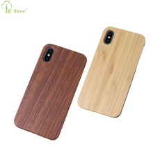Manufacturing Wooden Style PC Combo Genuine Natural Bamboo Wood Phone Case For iPhone X Back Cover Shell