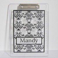Office supply customized size acrylic Personalized Clipboard with beautiful printing