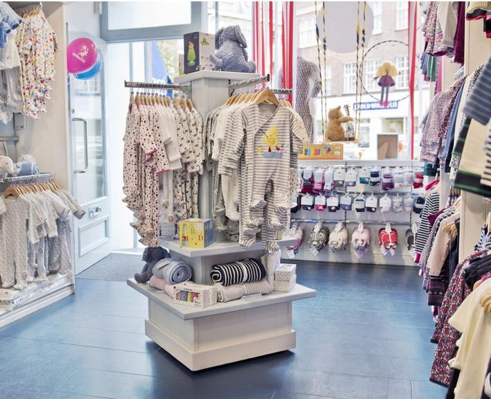 Fancy Baby Shop Garment Display Rack Interior Design And Fittings