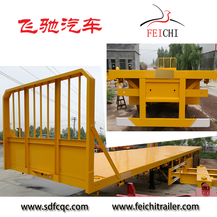 Top Ranking Vietnam Export 2-4Axles Container Flatbed Semi Trailer Trailers Deck Chassis Optional