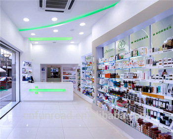 New Style Medical Store Counter Design Medicine Rack